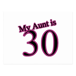 My Aunt is 30 Postcard