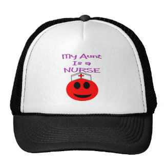 My Aunt is a Nurse RED SMILEY Cap