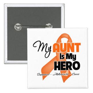 My Aunt is My Hero - Leukemia 15 Cm Square Badge
