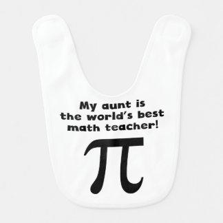 My Aunt Is The Word s Best Math Teacher Baby Bib