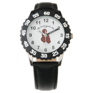 My Aunt Loves Me Ant Personalize Wristwatch