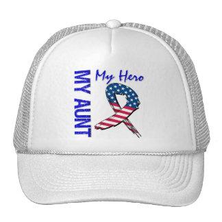 My Aunt My Hero Patriotic Grunge Ribbon Cap