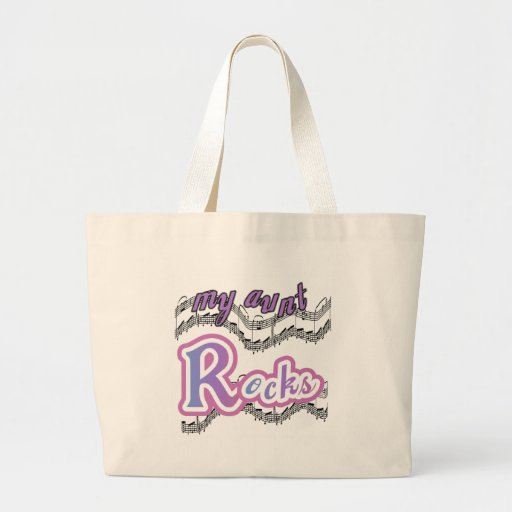 My Aunt Rocks Canvas Bags