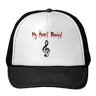 my aunt rocks clothing trucker hat