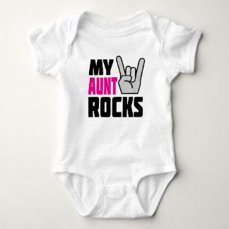 My Aunt Rocks - funny baby creeper