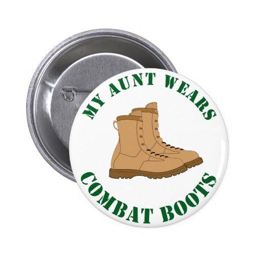 My Aunt Wears Combat Boots - Button