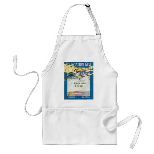 My Aviation GIrl Vintage Songbook Cover Aprons