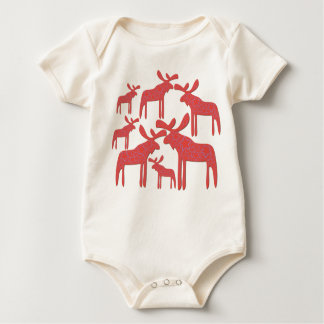 My baby: Red Galactic Moose Baby Bodysuit