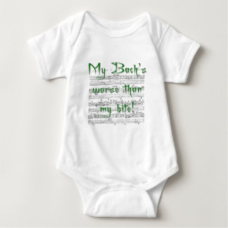 My Bach's worse than my bite! Baby Bodysuit