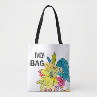 My Bag sign with summer flowers