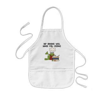 My Baking Will Make You Croak T-shirts and Gifts Kids Apron