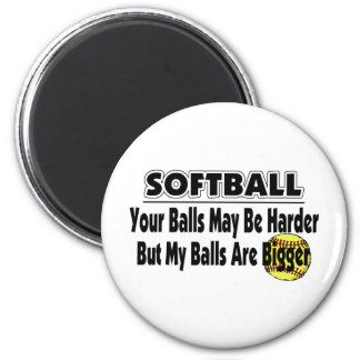 My Balls Are Bigger 6 Cm Round Magnet
