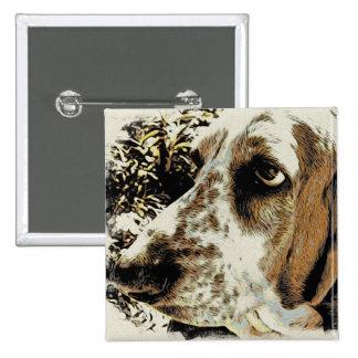 My Basset Hound 15 Cm Square Badge