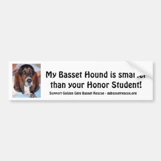 My Basset Hound is smarter than ..... Bumper Sticker