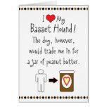 My Basset Hound Loves Peanut Butter Cards