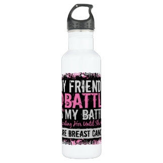 My Battle Too 2 Breast Cancer Friend 710 Ml Water Bottle