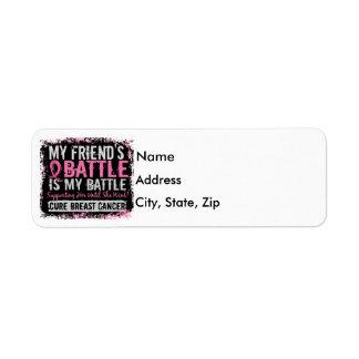 My Battle Too 2 Breast Cancer Friend Return Address Label