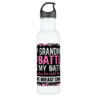 My Battle Too 2 Breast Cancer Grandma 710 Ml Water Bottle