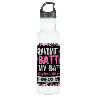 My Battle Too 2 Breast Cancer Grandmother 710 Ml Water Bottle