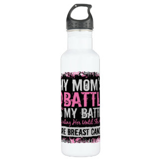 My Battle Too 2 Breast Cancer Mom 710 Ml Water Bottle