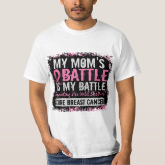 My Battle Too 2 Breast Cancer Mom Shirts