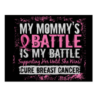 My Battle Too 2 Breast Cancer Mommy Postcard