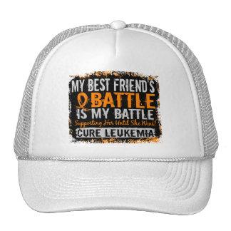 My Battle Too 2 Leukemia Best Friend Female Trucker Hats