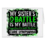 My Battle Too 2 Lymphoma Sister Greeting Card