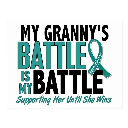 My Battle Too Granny Ovarian Cancer Postcard