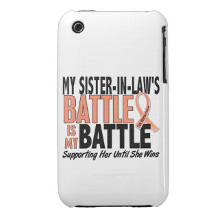 My Battle Too Sister-In-Law Uterine Cancer iPhone 3 Case-Mate Case