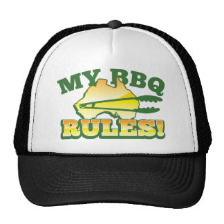 My BBQ RULES! barbecue Australian design Cap