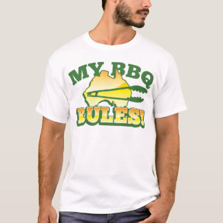 My BBQ RULES! barbecue Australian design T-Shirt