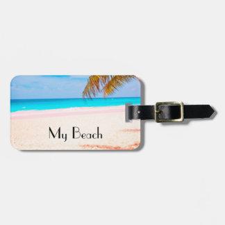 My Beach, Tropical Beach View Luggage Tag