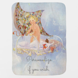 My Bed is a Boat - Vintage picture by Eulalie Pramblankets