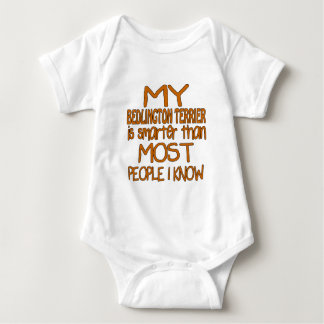 MY BEDLINGTON TERRIER IS SMARTER THAN MOST PEOPLE BABY BODYSUIT