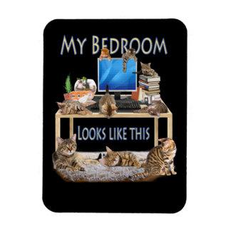 My Bedroom looks like this Rectangular Photo Magnet
