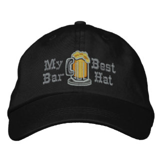 My Best Bar Hat Funny Drinking Embroidered Baseball Caps