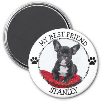 My Best Friend, Dog Pawprints Photo Button Magnet