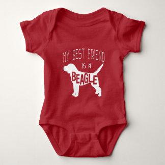 My Best Friend is a Beagle Baby Bodysuit