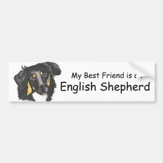 My Best Friend is a Black & Tan English Shepherd Bumper Sticker