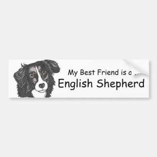 My best friend is a Black & White English Shepherd Bumper Stickers