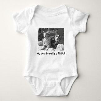 My best friend is a Pit Bull Baby Bodysuit