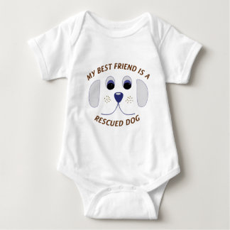My Best Friend is a Rescued Dog Baby Bodysuit
