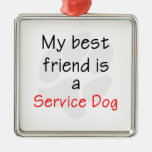 My Best Friend is a Service Dog Christmas Ornament