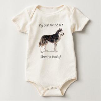 My Best Friend Is A Siberian Husky! Baby Bodysuit