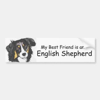 My Best Friend is a Tri-color English Shepherd Bumper Sticker