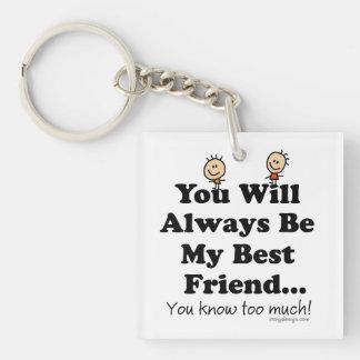 My Best Friend Key Ring