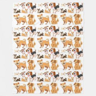 My Best Friend Pattern Fleece Blanket
