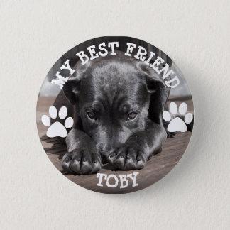My Best Friend, Pawprints Dog Photo Button