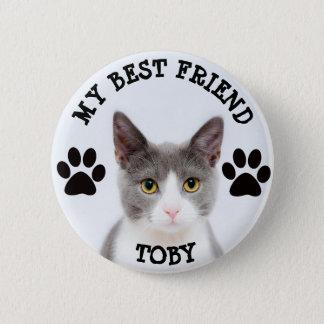 My Best Friend, Pawprints Kitty Cat Photo Button